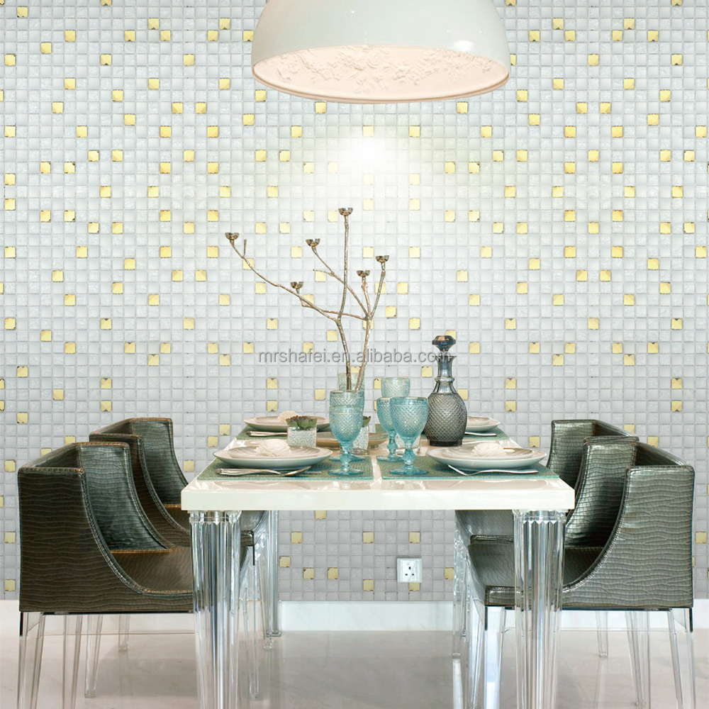 cracked glass mosaic tiles
