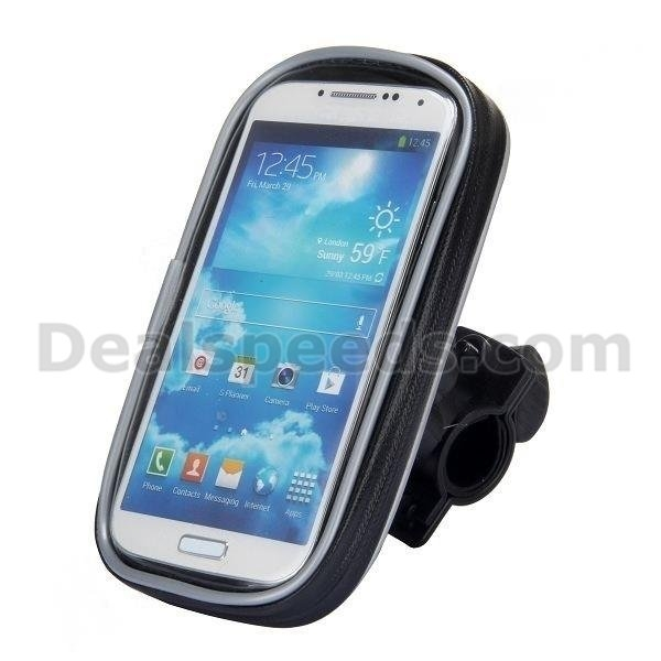360 Degree Rotate Waterproof Weather Resistant Bike Mount Bag Case For Samsung Galaxy S4 Mini ZOOM