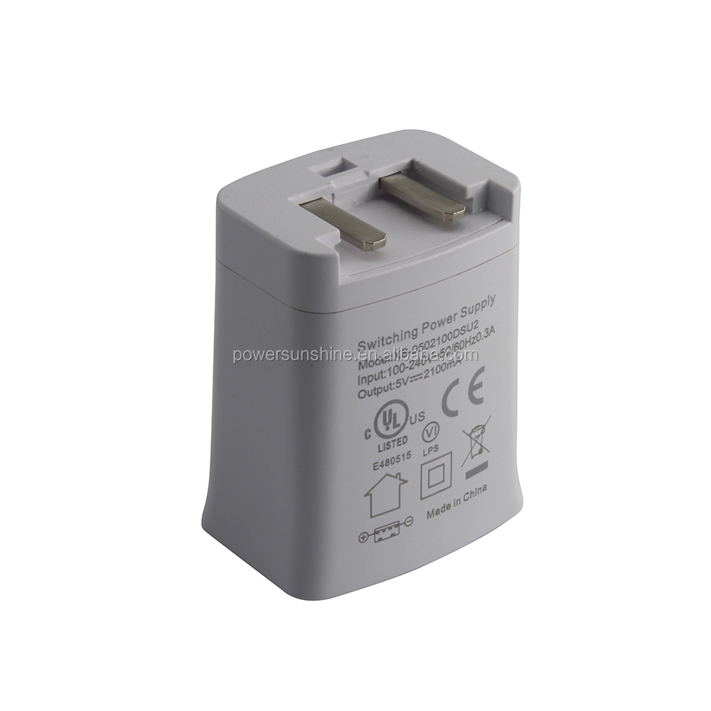 Universal 5v2.1a ac dc EU plug power adapter with CE certifications for PSP