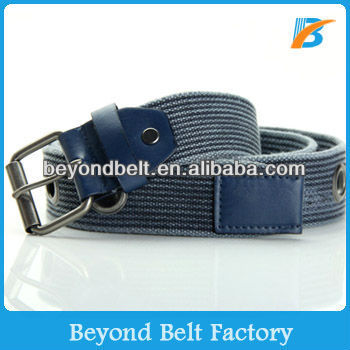 Dark Grey Military Style Cotton Washed Webbing Canvas Belt for Men