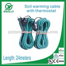 Soil Heating Cable with thermostat in euro plug