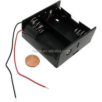 HM-PE003 2 D cell battery holder Battery Holder 2 Cell Size D R20 Case 3V DC Clip Box Wire Lead 2 Cell D battery holder