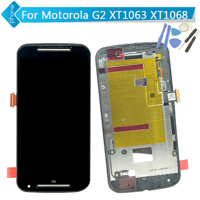For Motorola for MOTO G2 G+1 XT1063 XT1068 LCD Display Touch Digitizer Assembly with Frame +Tools