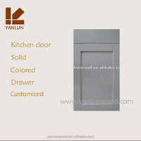 white melamine kitchen cabinet door with straight rail