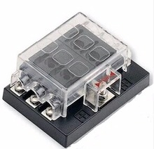 6 Way Blade Fuse Box Holder for Auto Rv Boat Marine 12v/24v