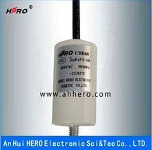 China HERO 5uF 450V CBB60 AC Motor capacitor for water pump
