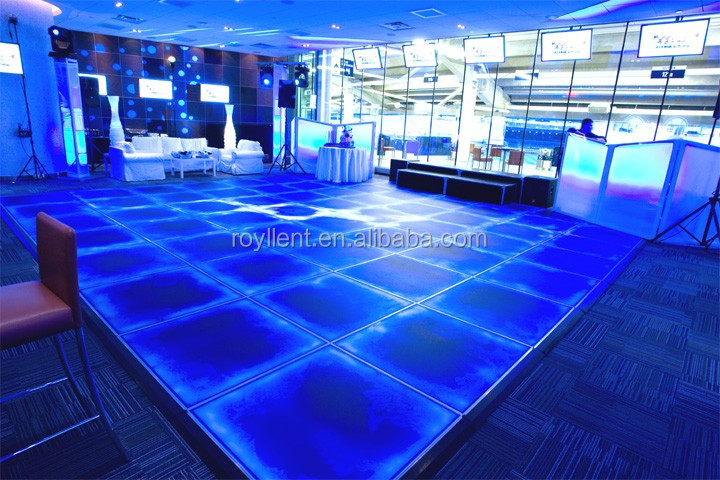 Liquid floor BLUE dark Fluid Bar, Rome, Italy tactile floors tiles
