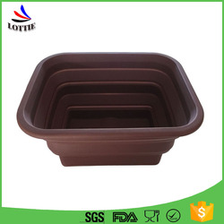 Hot Sales Chocolate Foldable Eco-Friendly Feature Kitchenware Silicone Collapsible Container