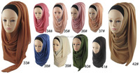 Z54493B Newest fashion islamic muslim women chiffon turban