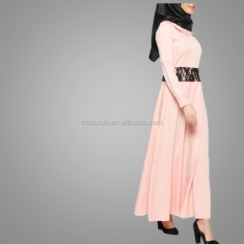 Casual Long Sleeves Dress Muslim Women Clothing Beautiful Slim Abaya