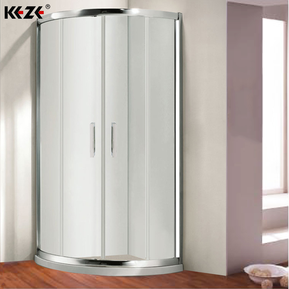 Round Curved Sliding Temporary Glass Shower Doors Lowes Buy Glass