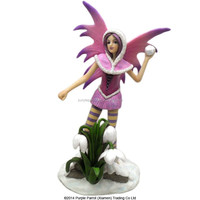 Fantasy Snow Fairy Throwing Snowball/ resin fairy figurines