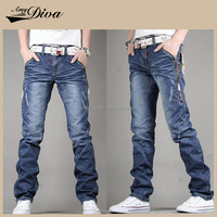 Top selling OEM custom washed jeans trousers wholesale new model denim jeans pants for men