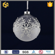 Clear snow glass ball crafts christmas tree ornament