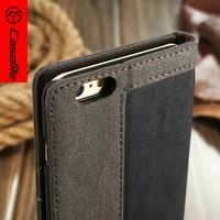 Caseme leather case for iphone 6splus, for iphone 6splus case with 4 different color,For iPhone 6splus flip cover