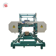 Diesel Engine portable horizontal band sawmill
