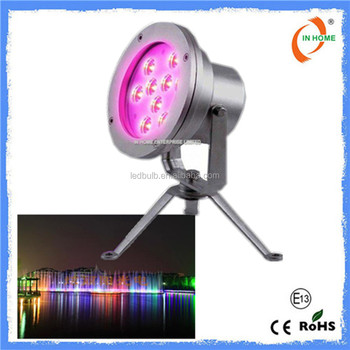 High quality DMX 9W IP68 waterproof underwater light, ss 316 underwater led lights