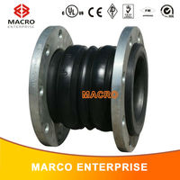 Double arch threaded union flexible rubber joint