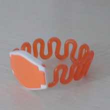HOT SALE epoxy nfc woven rfid wristband, printed woven label rfid ticket smart wristband