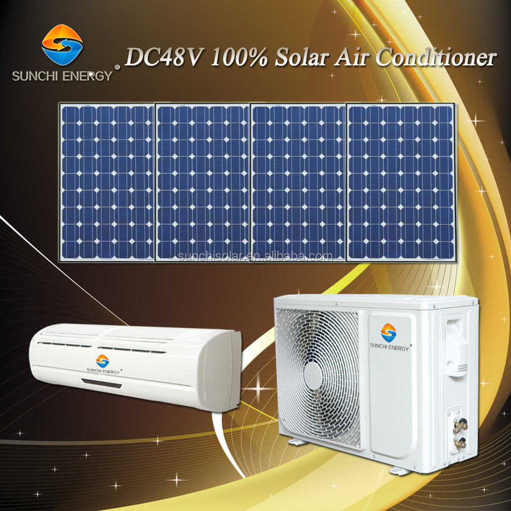 DC48V 12000BTU 18000BTU variable 100% without AC power split solar small air conditioning units