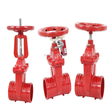 GROOVE GATE VALVE GATE GGG50 RISING STEM,WITH STAINLESS STEEL VAVLE HANDLE FOR FIRE HYDRANT