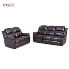 Fast delivery brown leather sofa set 3+2 living room <strong>furniture</strong>
