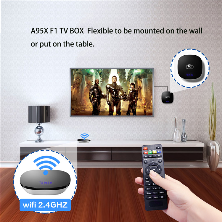 Best android tv box in india A95X F1 S905W 2GB 16GB Android8.1 tvbox now iptv 2019 factory price