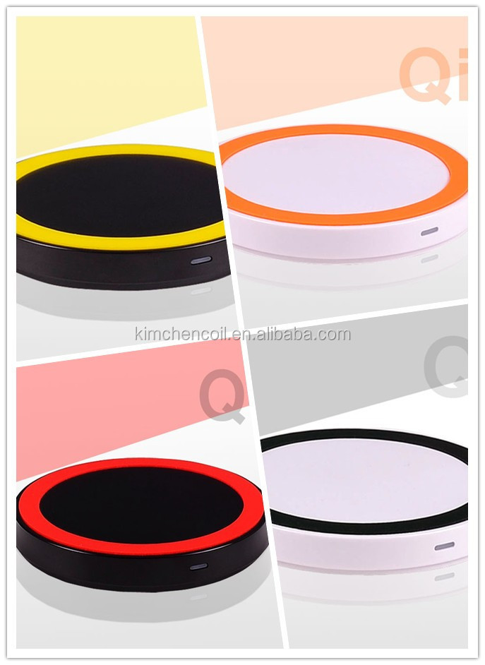 newest various color combination products for 2015 standard Qi mini style wireless charger for smartphone