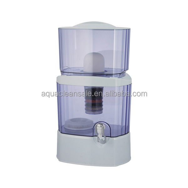 24Litre Mineral Water Pot With 7 Stage Filter , Liter Mineral Pot Ceramic filter New Water mineral pot
