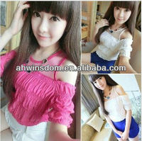 2013 SUMMER KOREA NEW FASHION CHIFFON LADIES SEXY BLOUSES