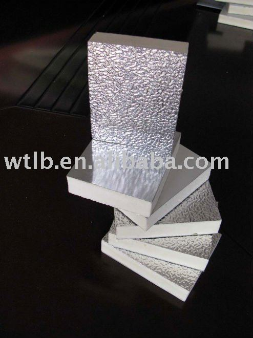 PU foam air duct sheet/PIR heat insulation board