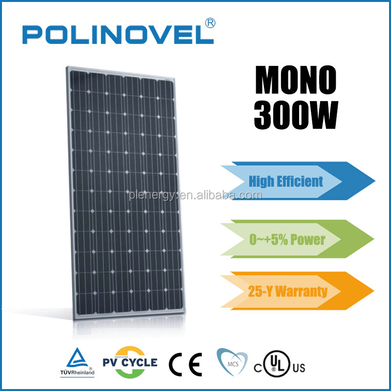 Monocrystalline 300 watt solar panel wholesale