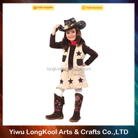 2016 Hot sale carnival masquerade cowgirl costume for girls