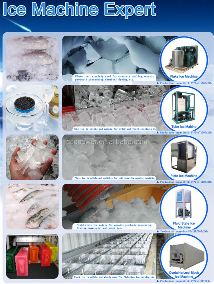 cscpower 5T Daily Capacity Industrial Flake ice machine Ice maker Ice Flaker