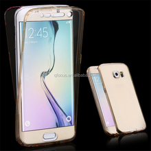 New Coming S6 Edge Soft TPU Transparent 360 Full Case For Samsung Galaxy S6 Edge / Plus