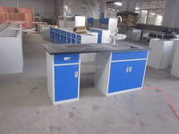 All steel epoxy resin lab bench/top table/work table
