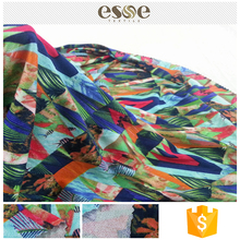 Hot selling CE approved material printing micro rayon moss crepe fabric