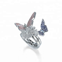 Fashion Europe Finger Ring Design Butterfly Jewelry