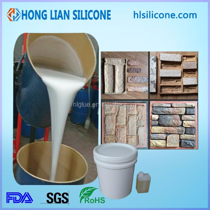 concrete stone mold polyurethane rubber rtv-2 liquid silicone for GRC mold making brush silicone rubber for mold