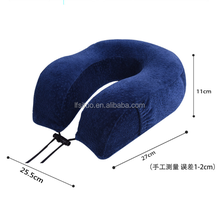 New design Memory foam U-shape travel pillow with washable velvet cover