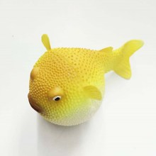 wholesale new arrive Puffer fish Aquarium Decoration/mini indoor puffer fish glow in the dark
