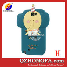 3D Cartoon Cute silicone Case for samsung galaxy note 2 N7100
