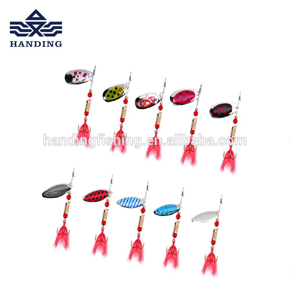 Handing 7cm 5g spinnner baits <strong>fishing</strong> lure artificial baits metal lure