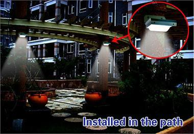 2015 Hot Sale Human Sensor Garden Use Solar Sensor Light Wholasale