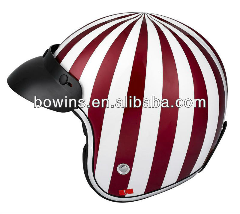 red watermelon Harley three quarters helmet women