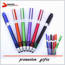 promotion plastic ballpoint and touch screen styles pen