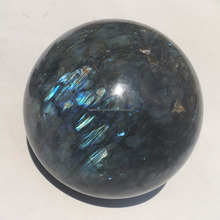 Wholesale natural large quartz crystal labradorite stone ball low in price