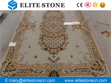 Luxury hotel floor design Stone Waterjet Marble Medallion For hotel lobby