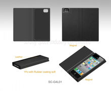 Magnetic leather filp case for iphone 5 cases,book style