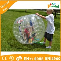 Hot sale crazy bumper ball,inflatable body zorbing ball for kids